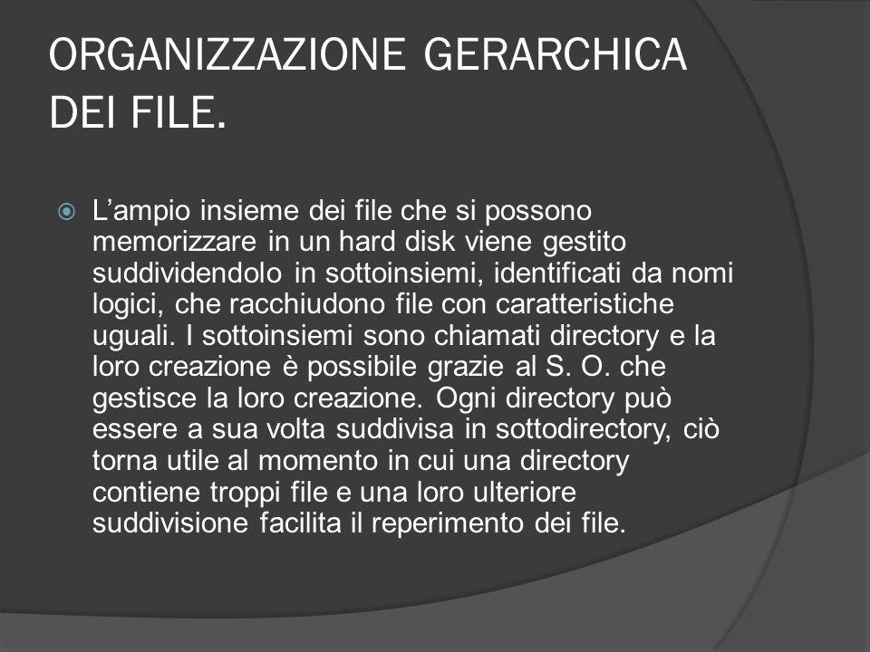 ORGANIZZAZIONE GERARCHICA DEI FILE.