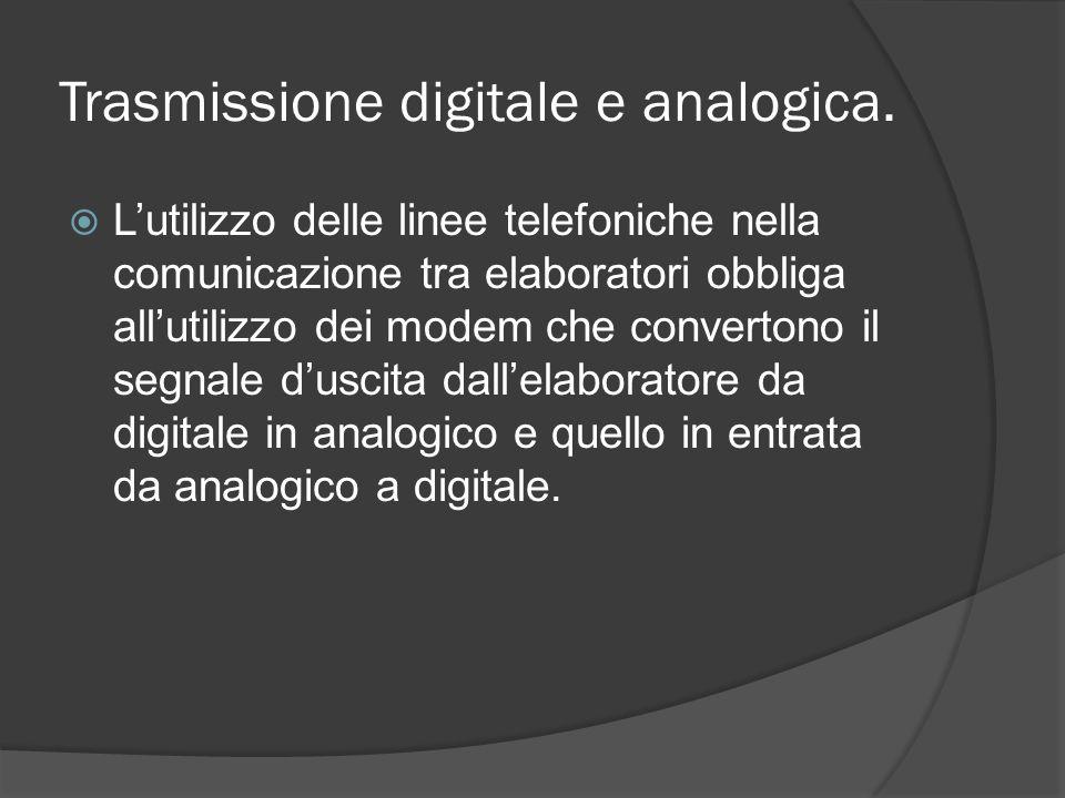 Trasmissione digitale e analogica.