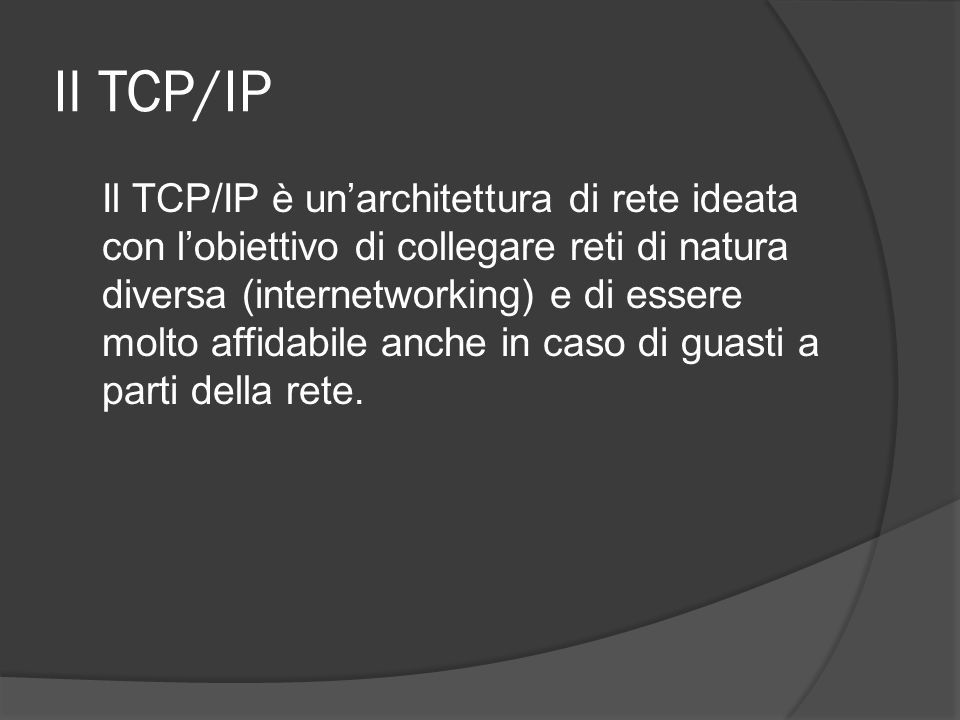Il TCP/IP