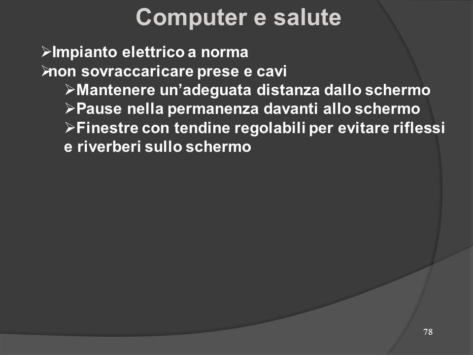 Computer e salute Impianto elettrico a norma
