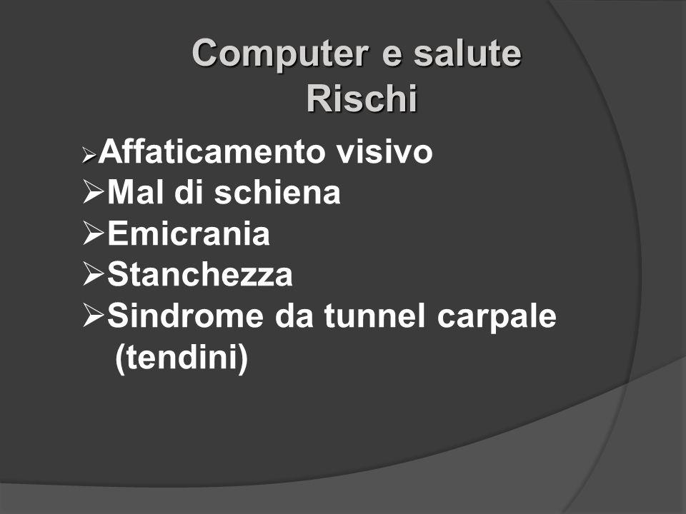 Computer e salute Rischi