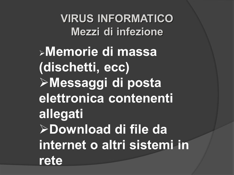 Messaggi di posta elettronica contenenti allegati