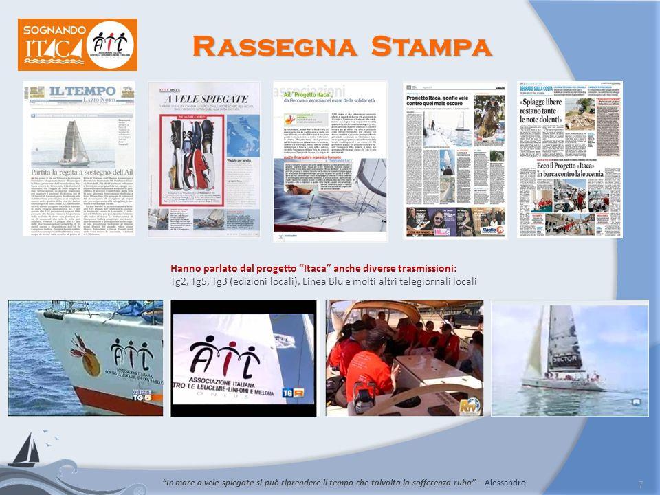 Rassegna Stampa Hanno parlato del progetto Itaca anche diverse trasmissioni: