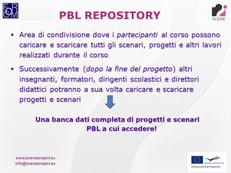 Una banca dati completa di progetti e scenari PBL a cui accedere!