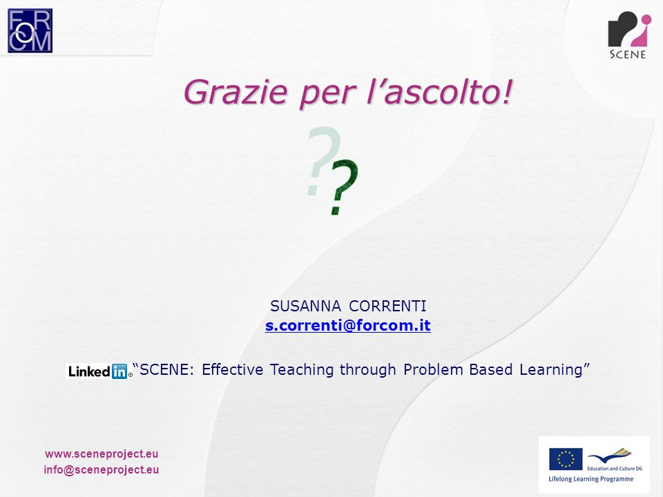 SCENE: Effective Teaching through Problem Based Learning