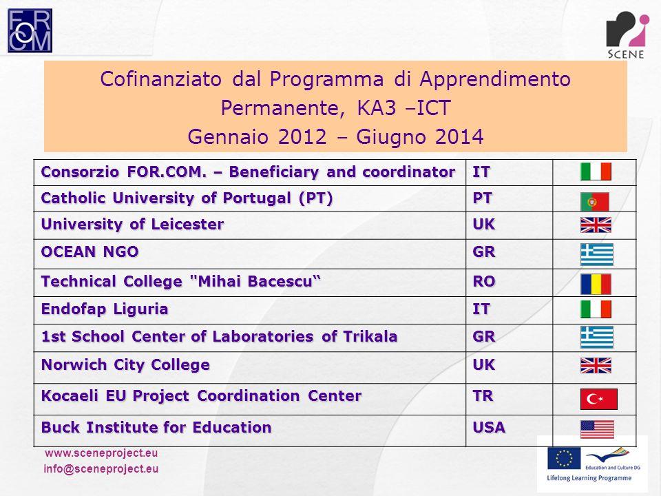 Cofinanziato dal Programma di Apprendimento Permanente, KA3 –ICT