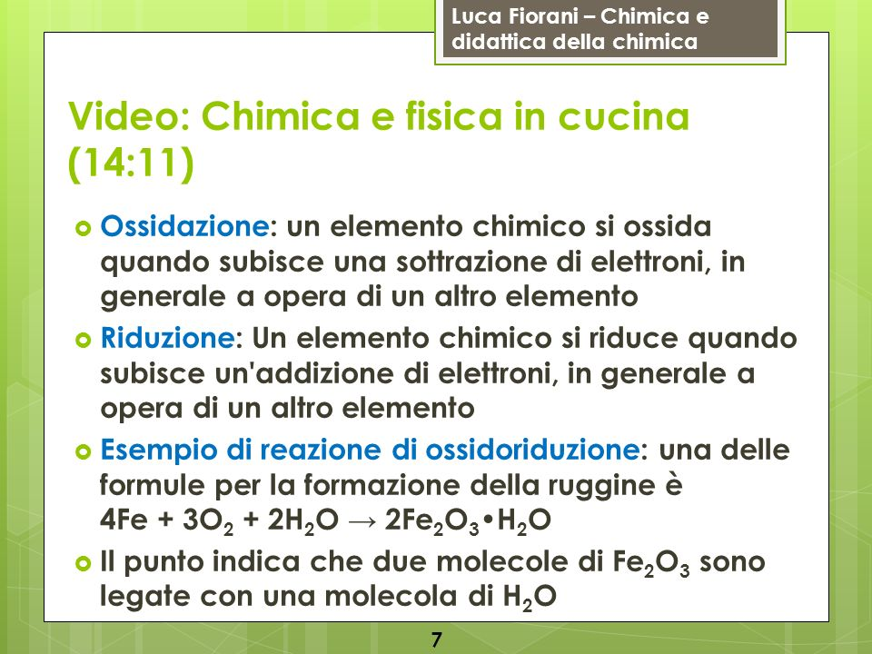 Video: Chimica e fisica in cucina (14:11)