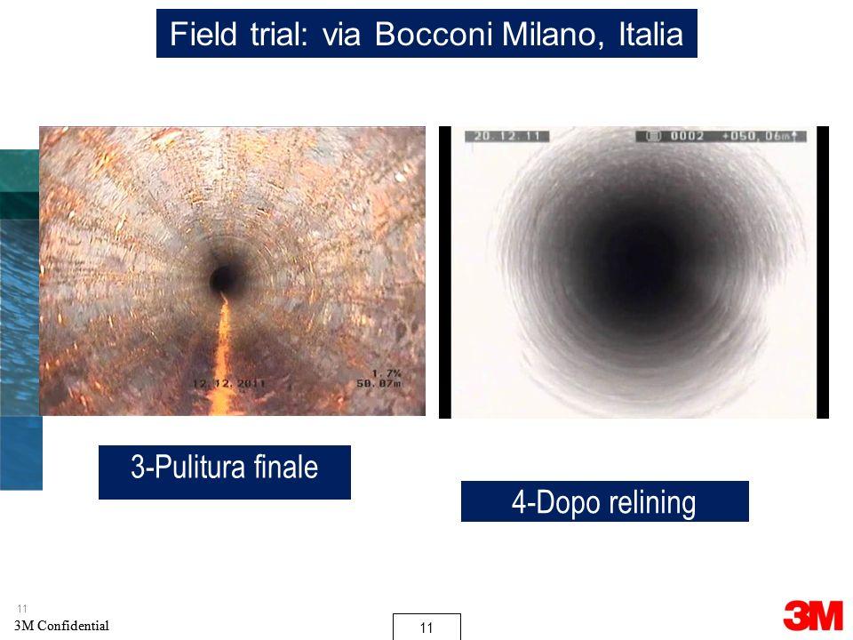 Field trial: via Bocconi Milano, Italia