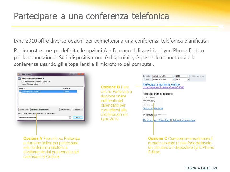 Partecipare a una conferenza telefonica
