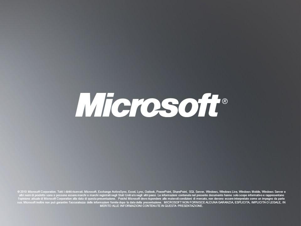 © 2010 Microsoft Corporation. Tutti i diritti riservati