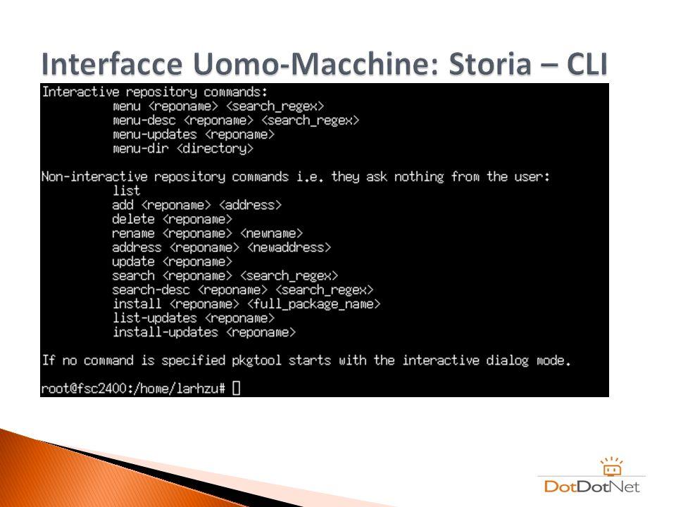 Interfacce Uomo-Macchine: Storia – CLI