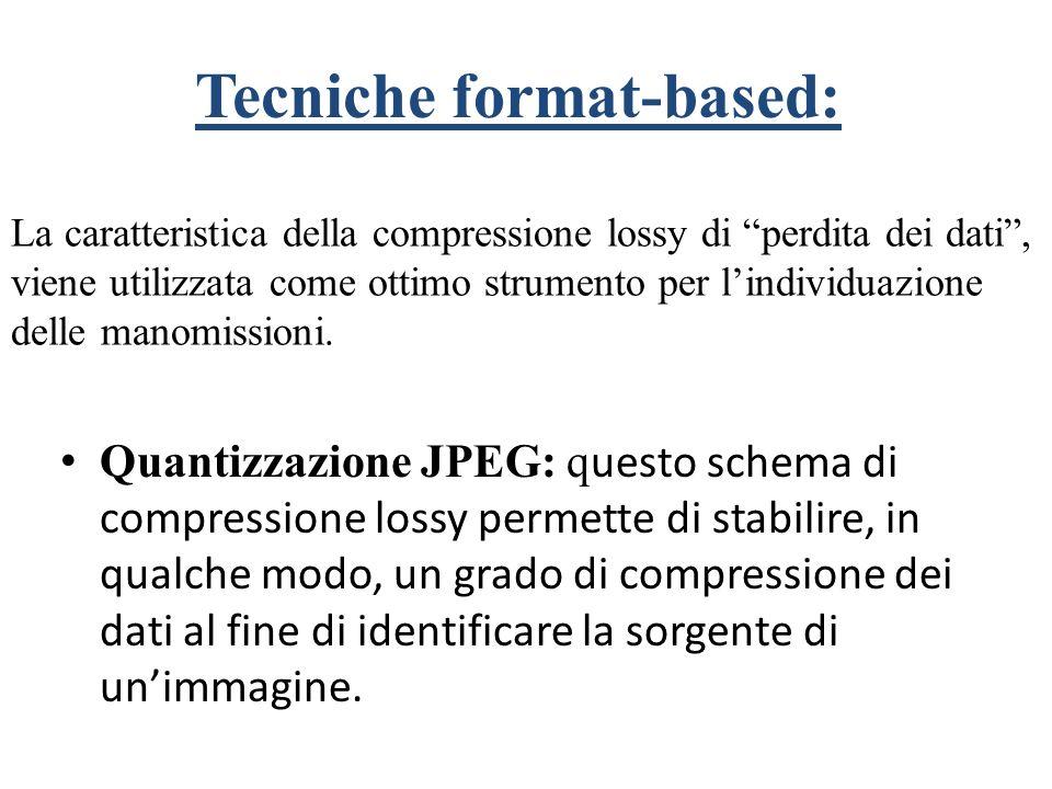 Tecniche format-based:
