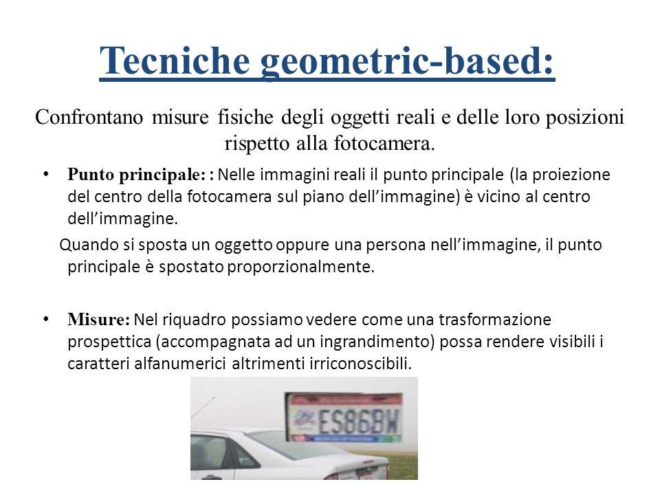 Tecniche geometric-based: