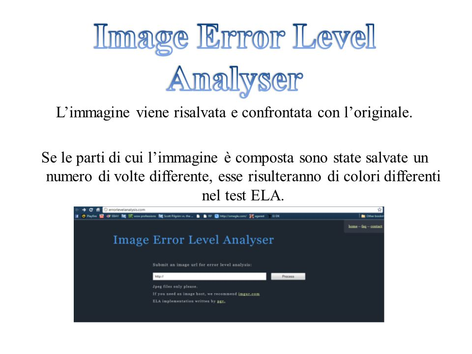 Image Error Level Analyser