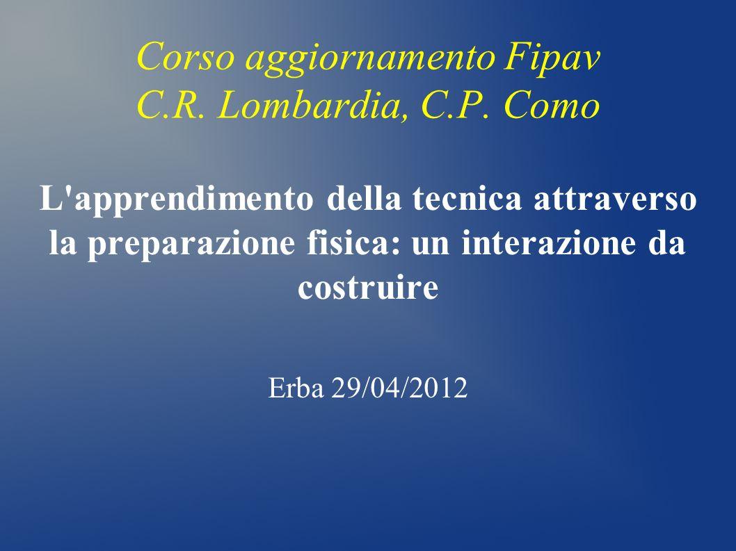 Corso aggiornamento Fipav C.R. Lombardia, C.P. Como