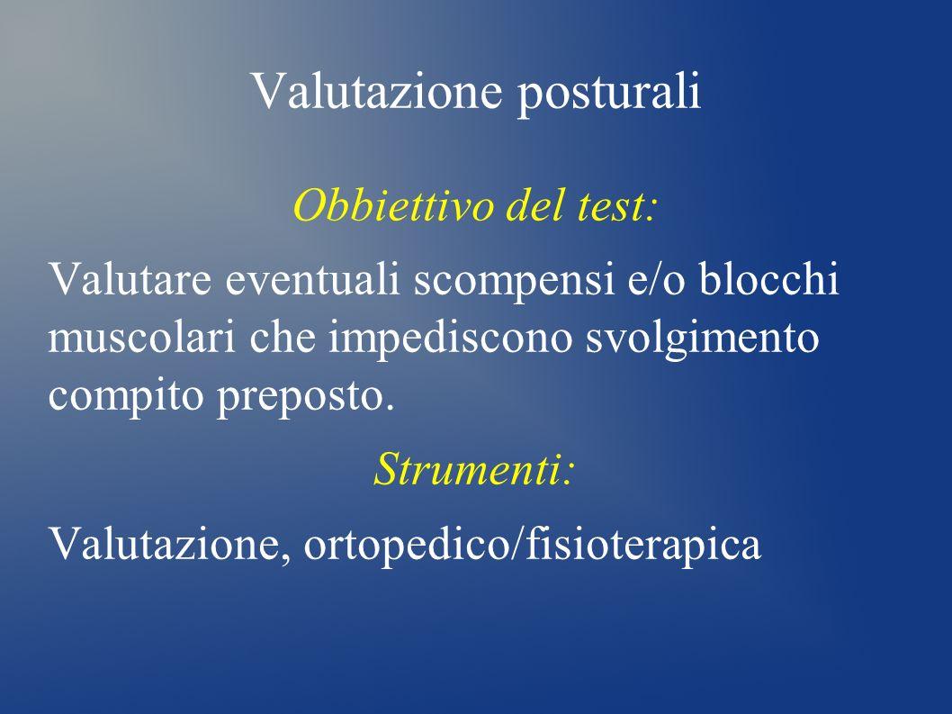 Valutazione posturali