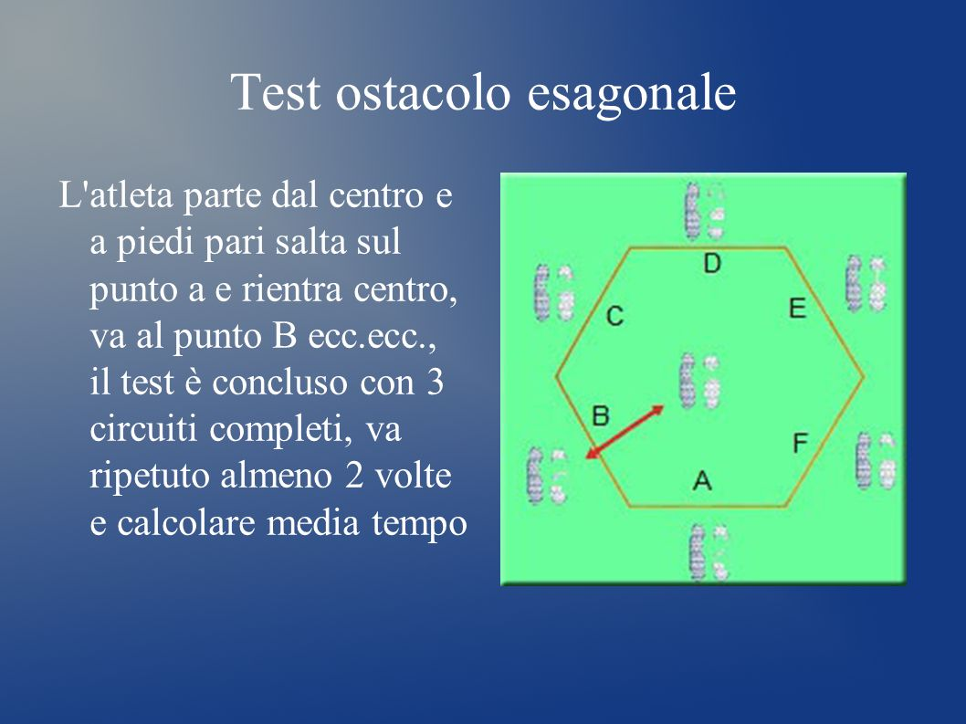 Test ostacolo esagonale