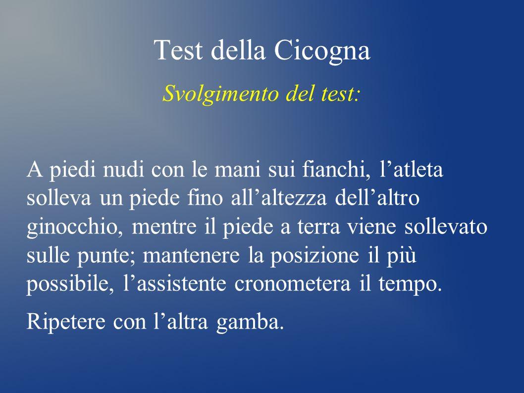Test della Cicogna Svolgimento del test: