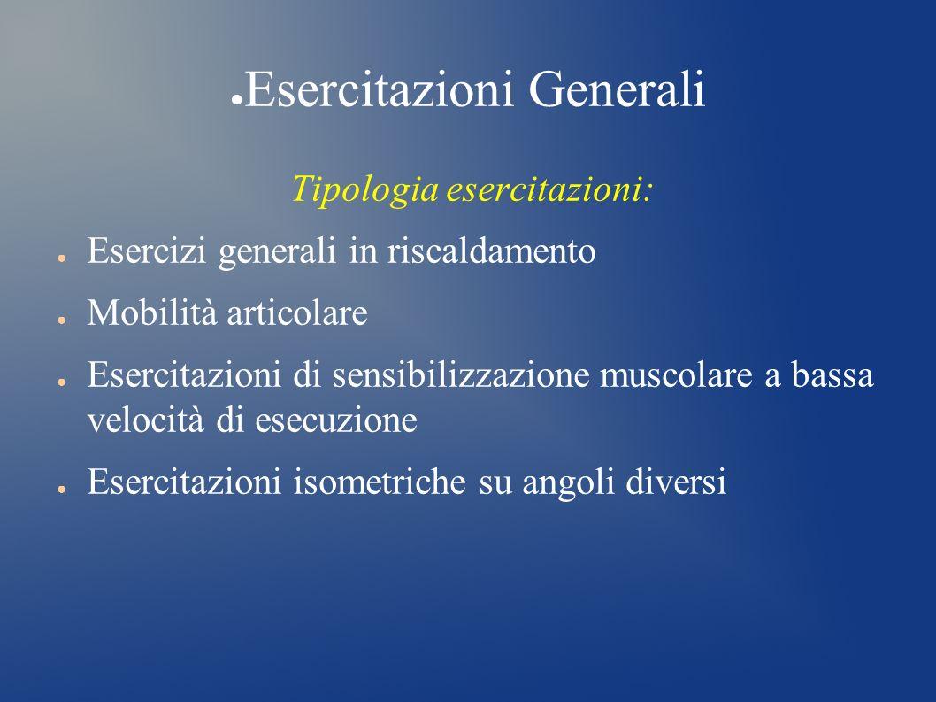 Esercitazioni Generali
