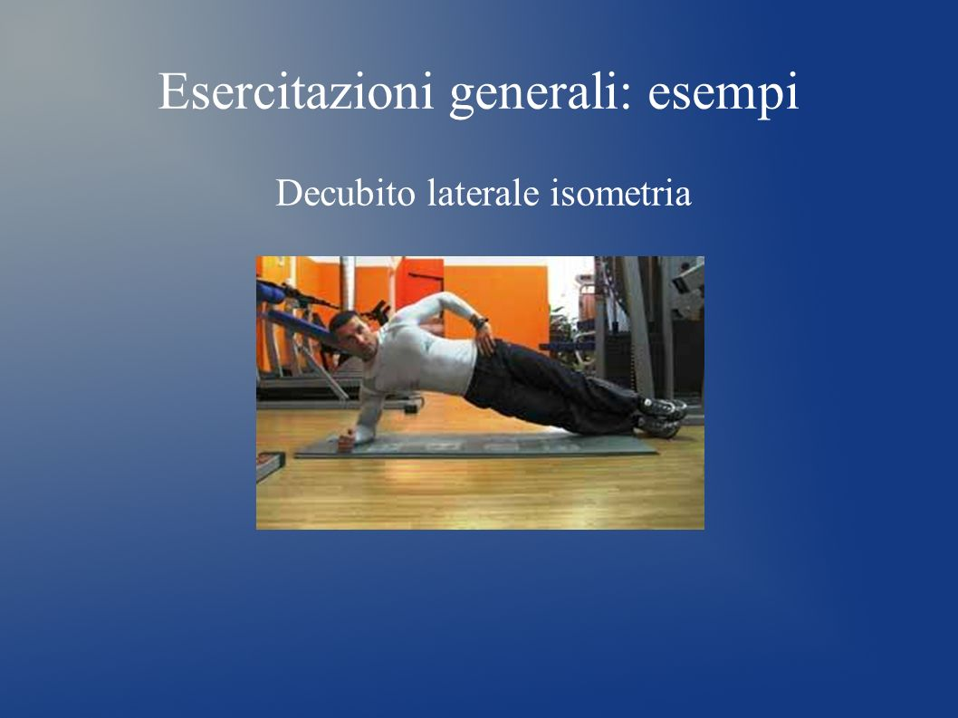 Esercitazioni generali: esempi