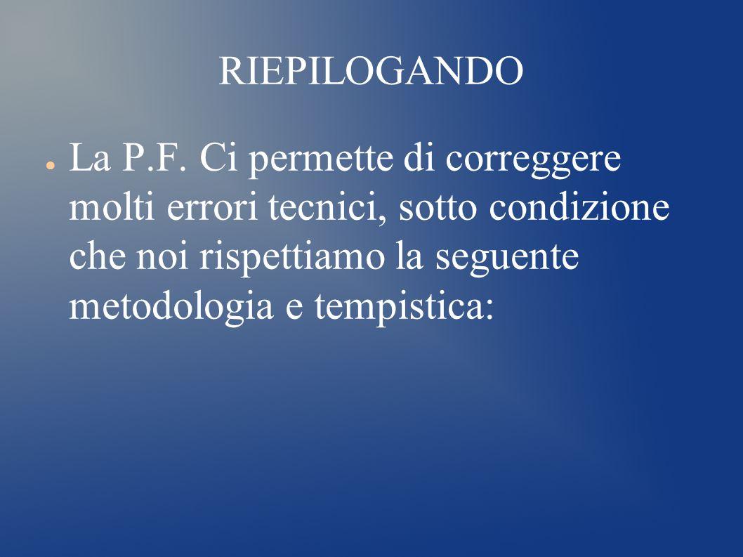 RIEPILOGANDO La P.F.