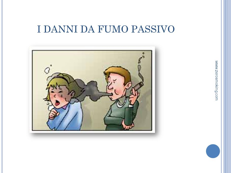 I DANNI DA FUMO PASSIVO www.zerosmoking.com