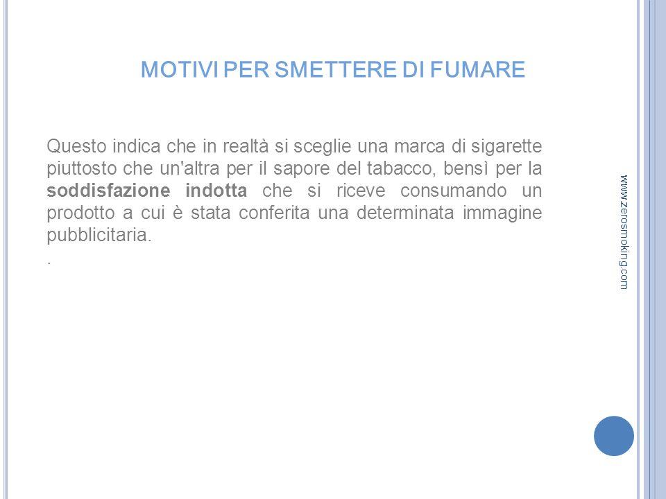 MOTIVI PER SMETTERE DI FUMARE