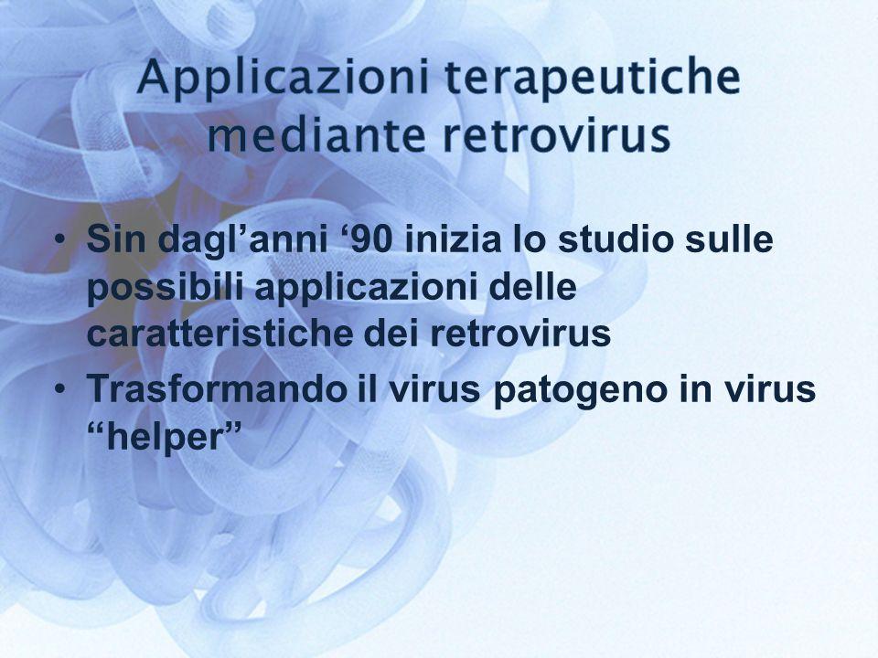 Applicazioni terapeutiche mediante retrovirus
