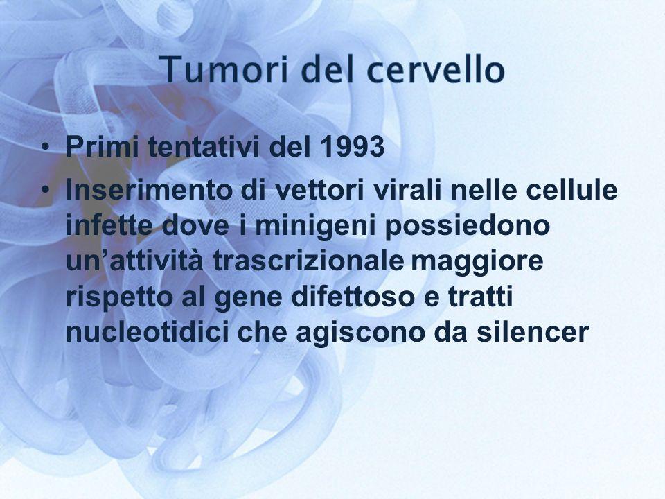 Tumori del cervello Primi tentativi del 1993