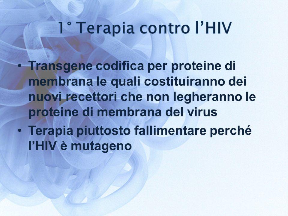 1° Terapia contro l'HIV