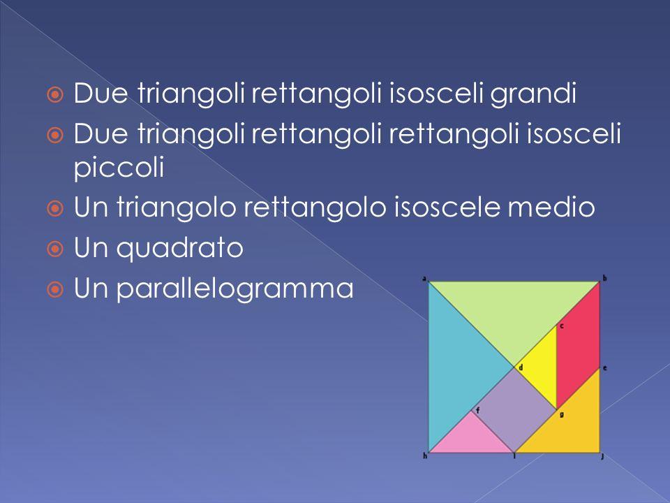 Due triangoli rettangoli isosceli grandi