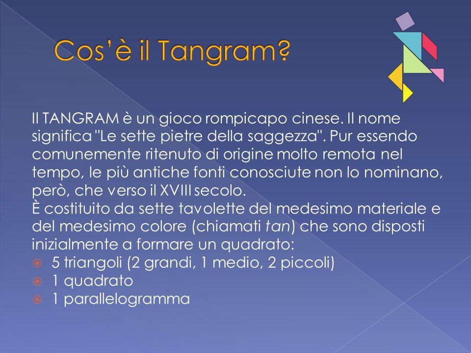 Cos'è il Tangram Il TANGRAM è un gioco rompicapo cinese. Il nome