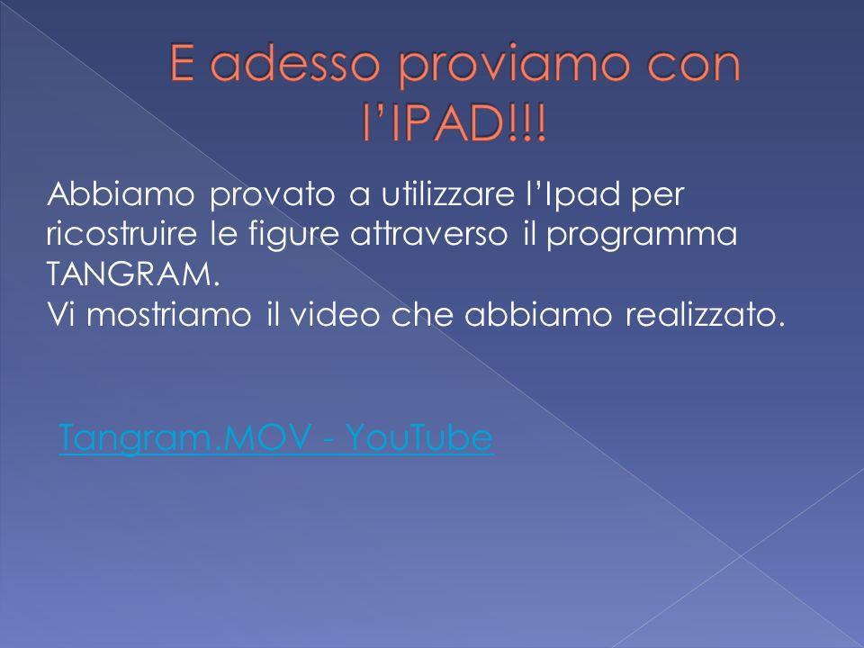 E adesso proviamo con l'IPAD!!!