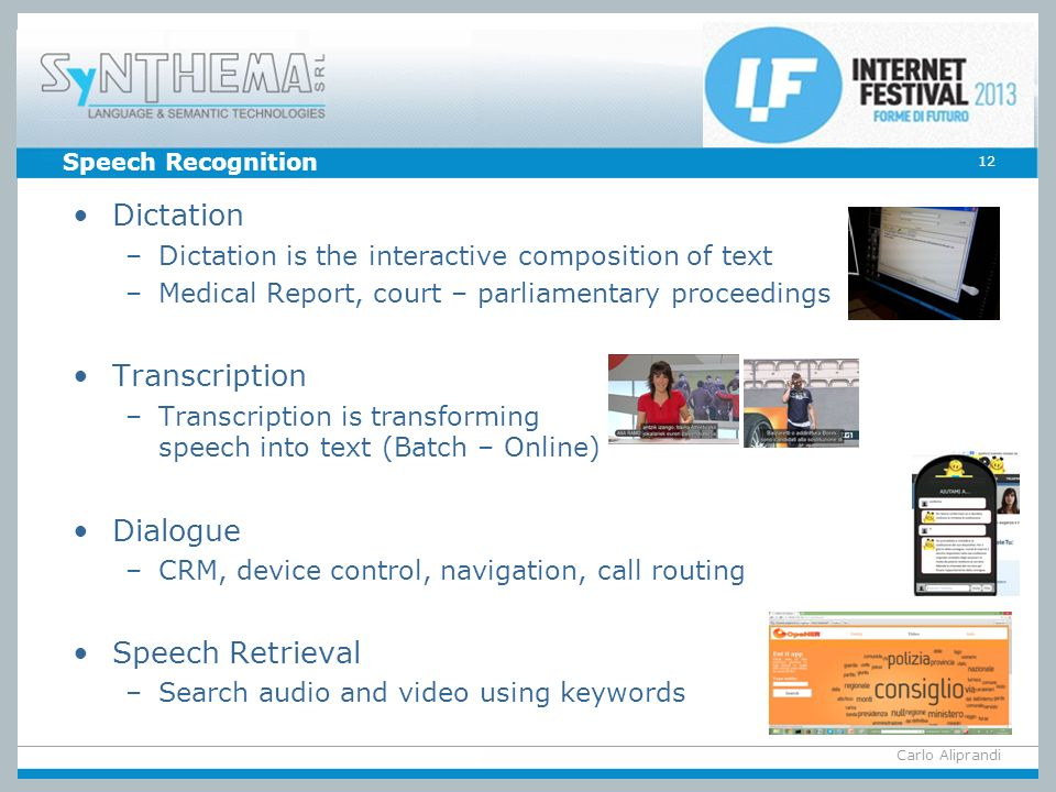 Dictation Transcription Dialogue Speech Retrieval