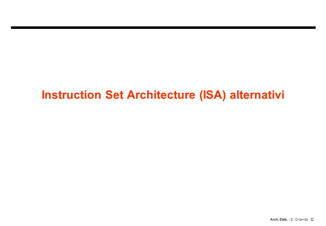 Instruction Set Architecture (ISA) alternativi