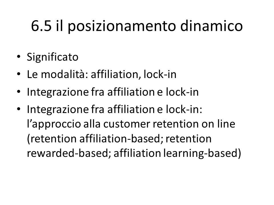 6.5 il posizionamento dinamico