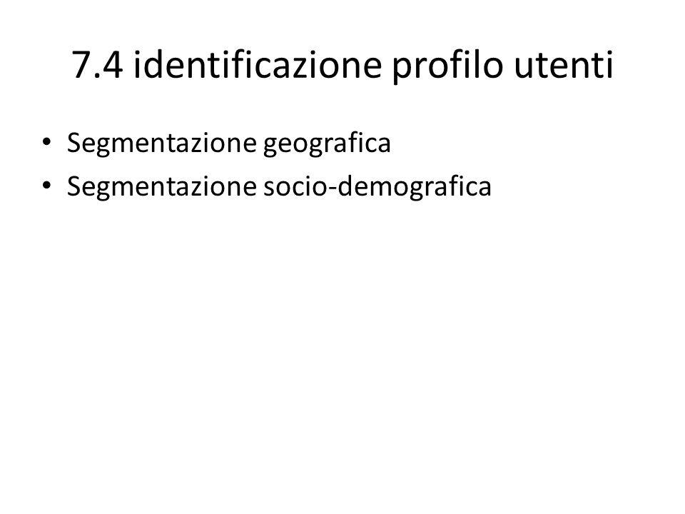 7.4 identificazione profilo utenti