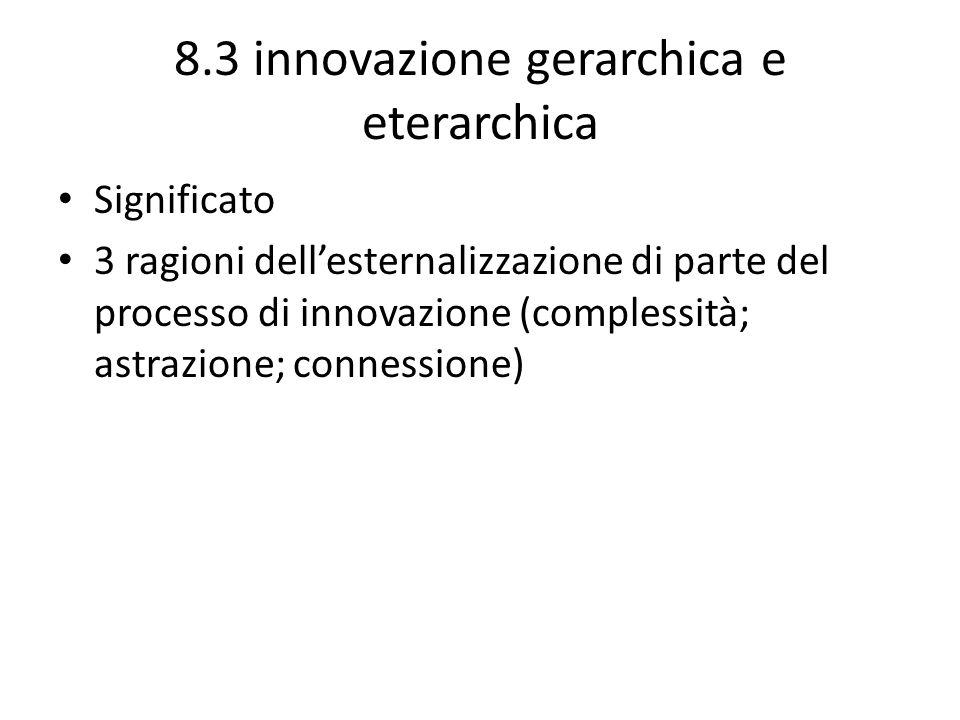 8.3 innovazione gerarchica e eterarchica