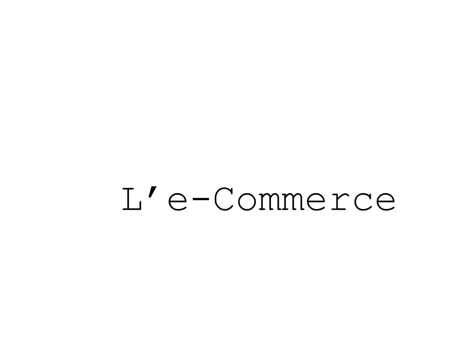 L'e-Commerce
