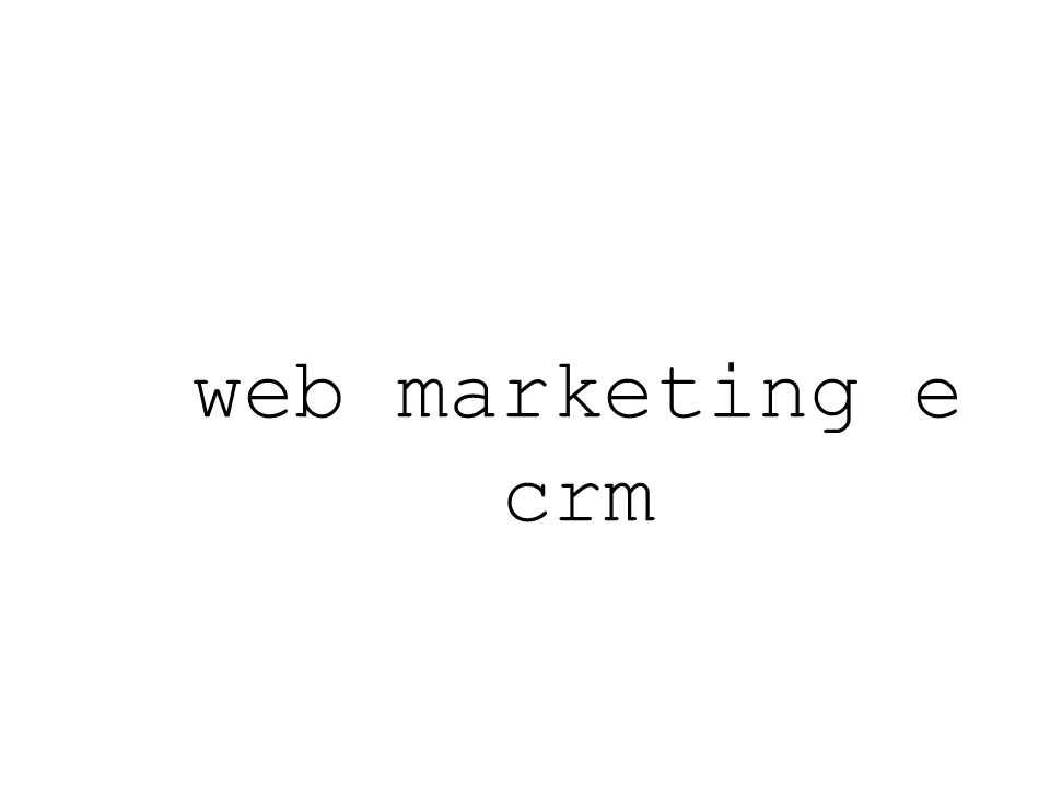 web marketing e crm