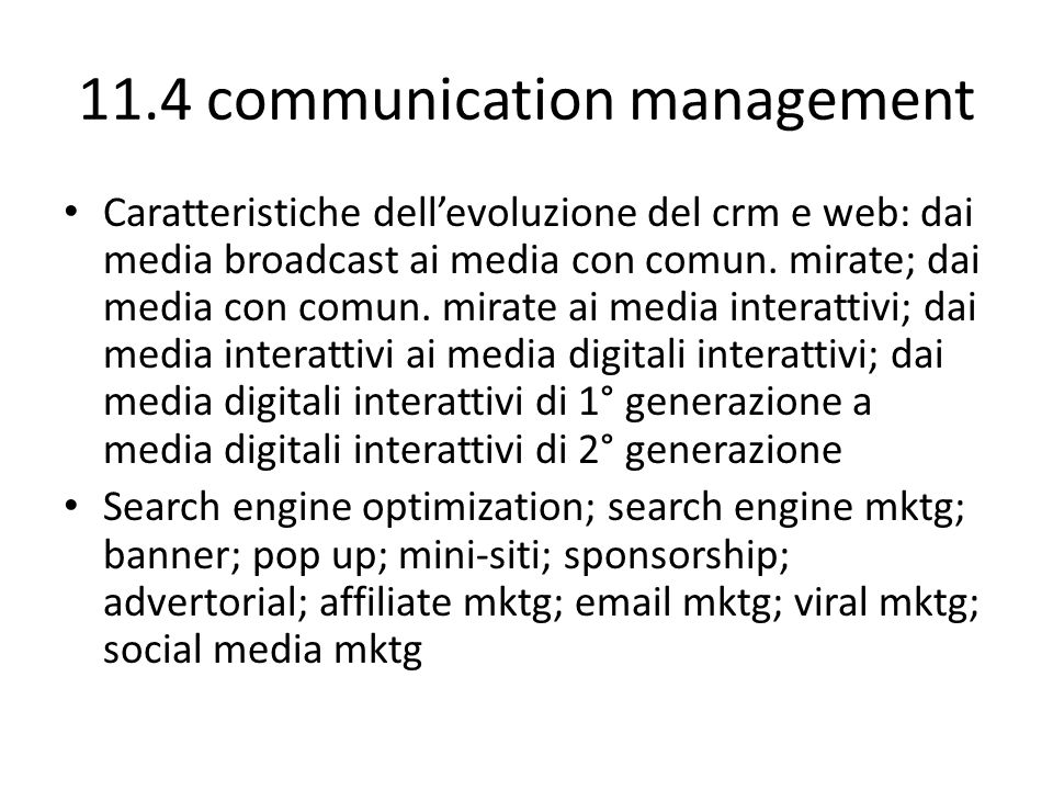 11.4 communication management
