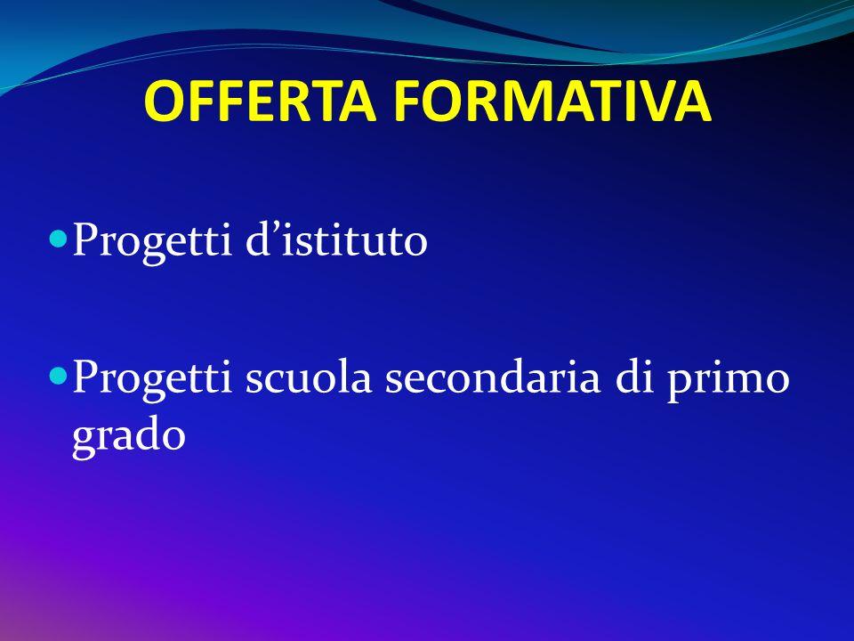 OFFERTA FORMATIVA Progetti d'istituto
