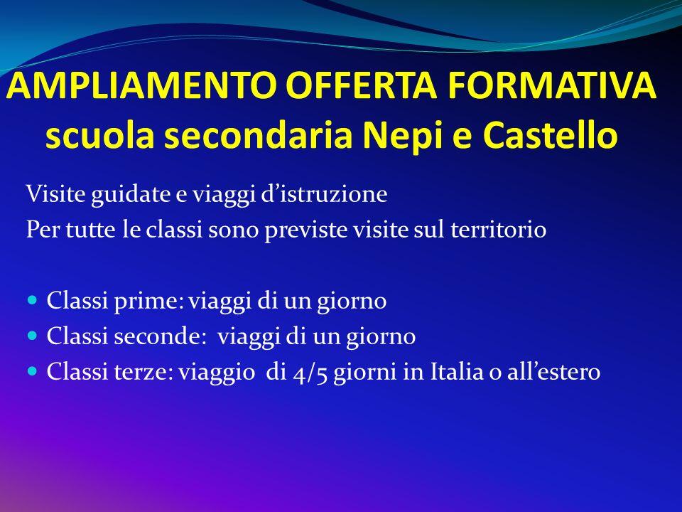 AMPLIAMENTO OFFERTA FORMATIVA scuola secondaria Nepi e Castello