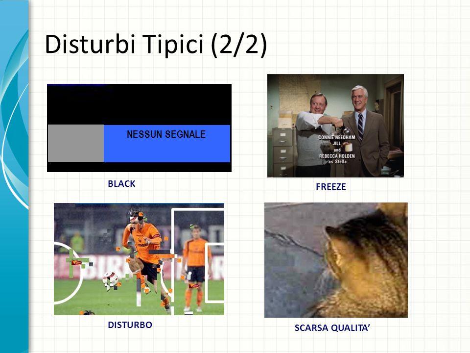 Disturbi Tipici (2/2) NESSUN SEGNALE BLACK FREEZE DISTURBO