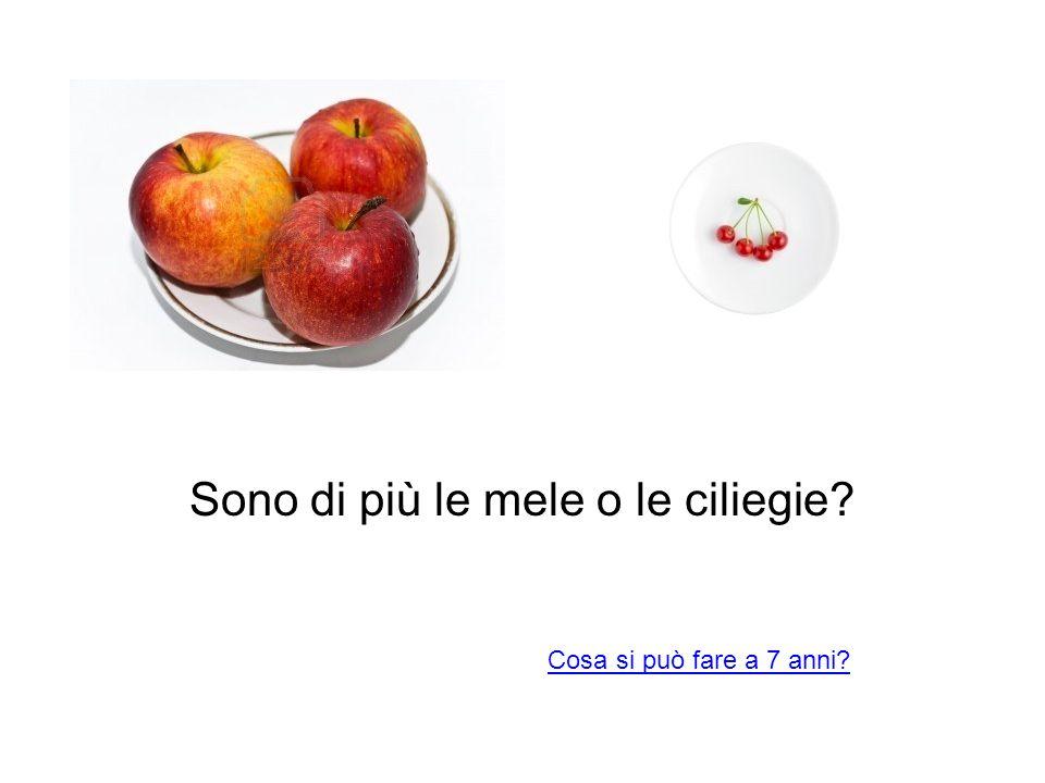 Sono di più le mele o le ciliegie
