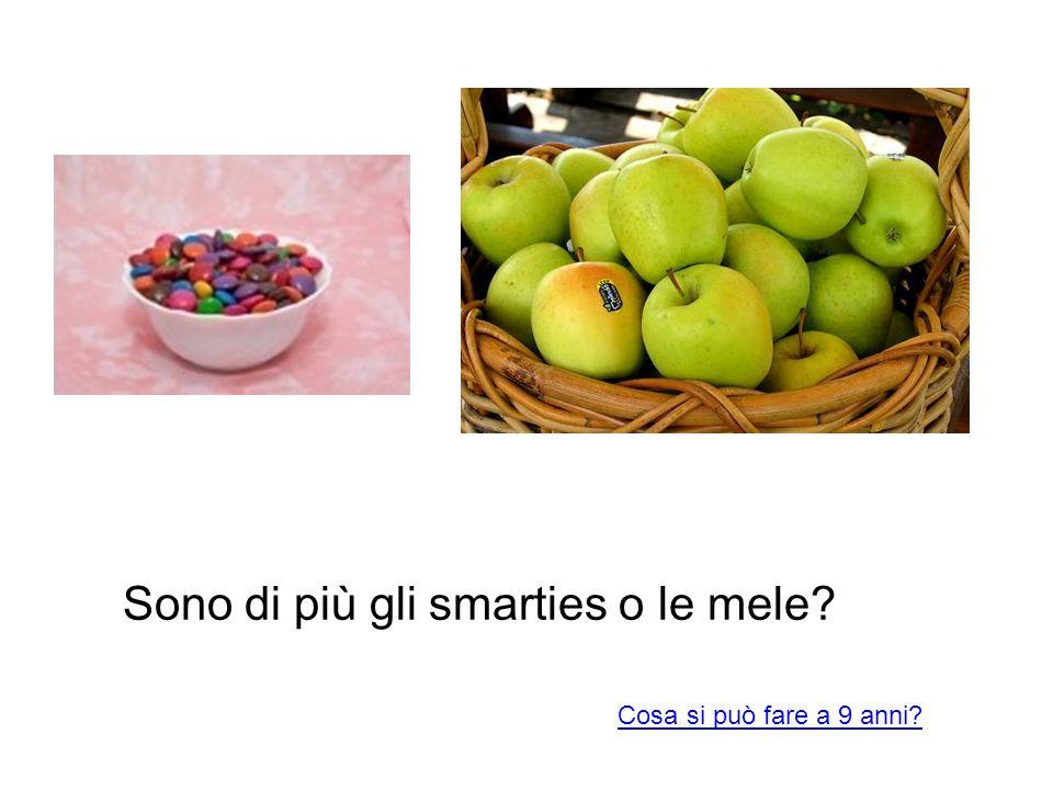 Sono di più gli smarties o le mele