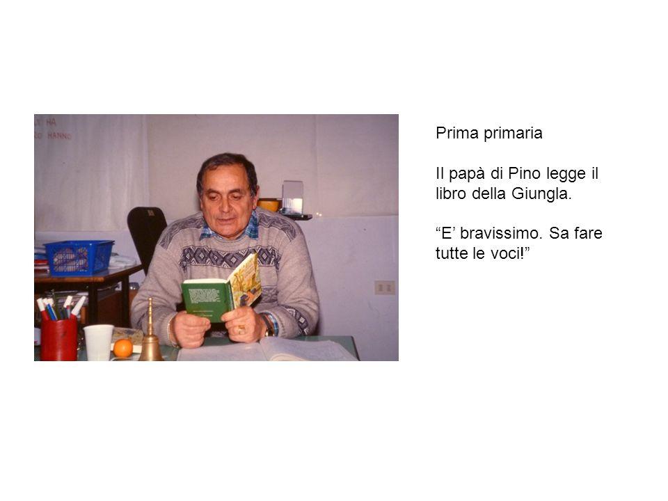 Prima primaria Il papà di Pino legge il libro della Giungla.