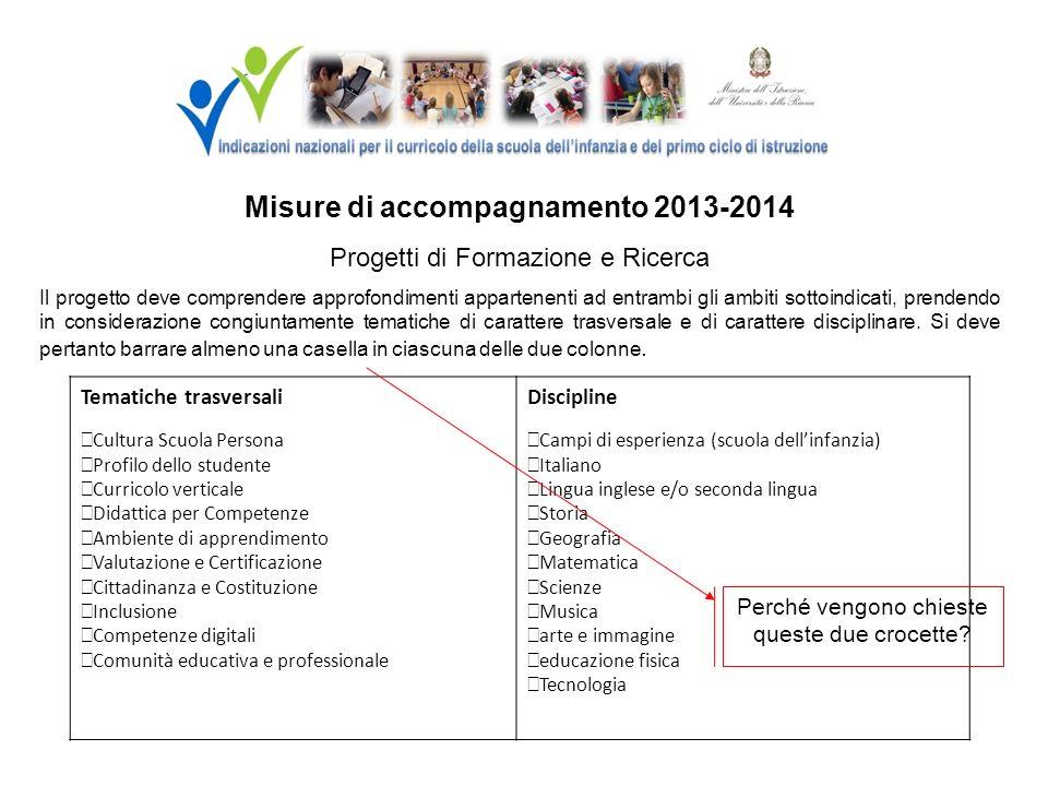 Misure di accompagnamento 2013-2014