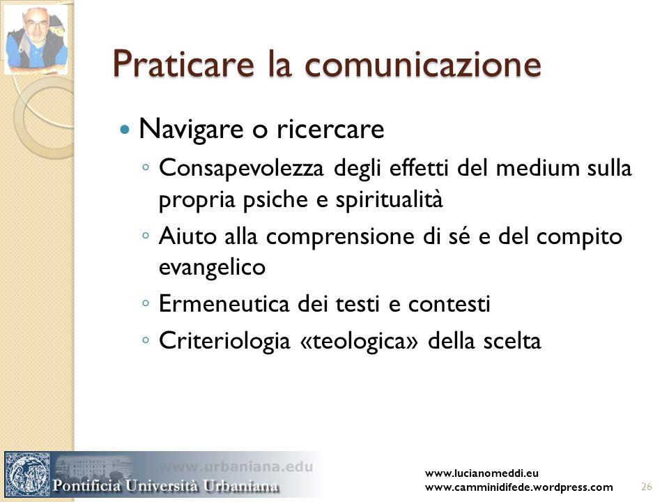 Praticare la comunicazione