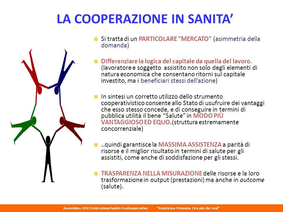 LA COOPERAZIONE IN SANITA'